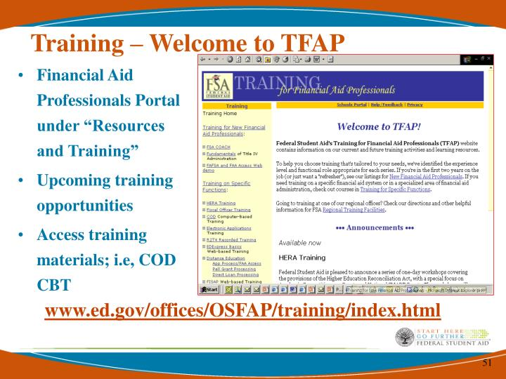 Training – Welcome to TFAP