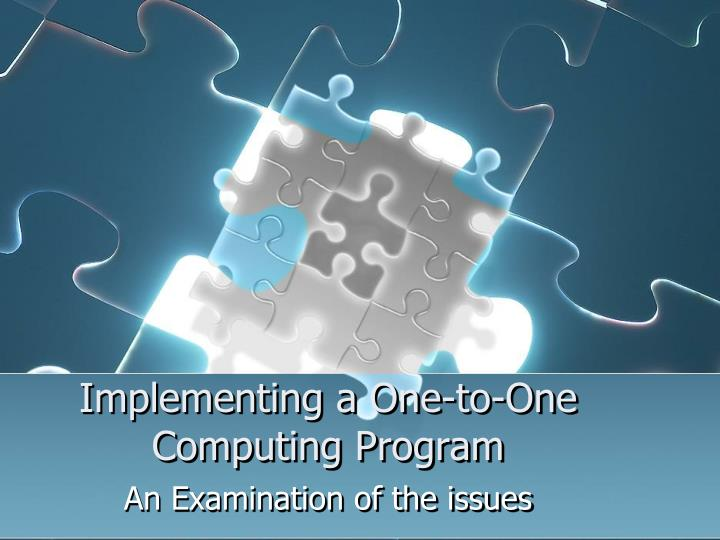implementing a one to one computing program n.