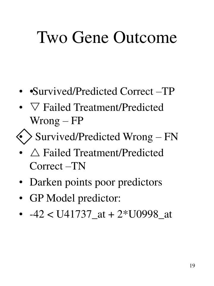 Two Gene Outcome