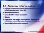 b 1 temporary visitor for business