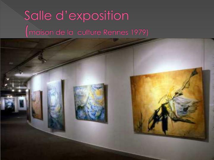 Ppt maison de la culture powerpoint presentation id for Exposition maison