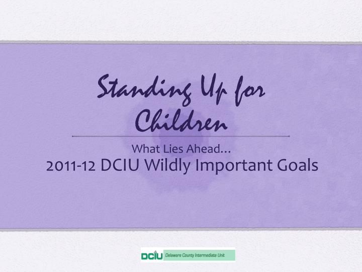 standing up for children n.