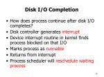 disk i o completion