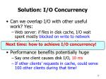 solution i o concurrency