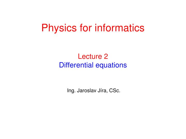 lecture 2 differential equations n.
