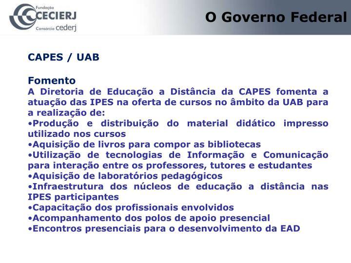O Governo Federal