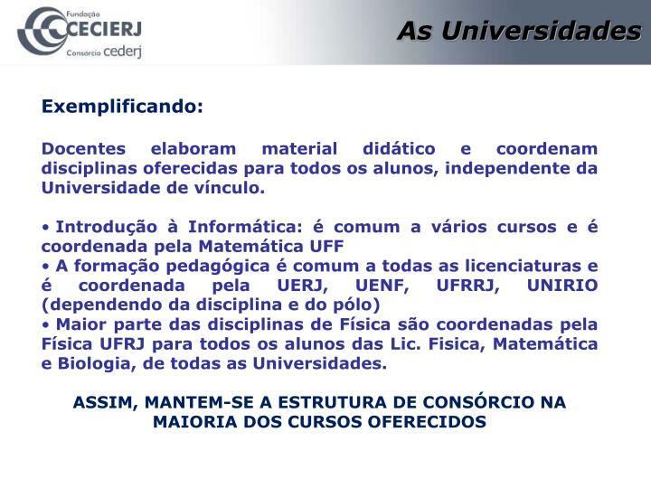 As Universidades