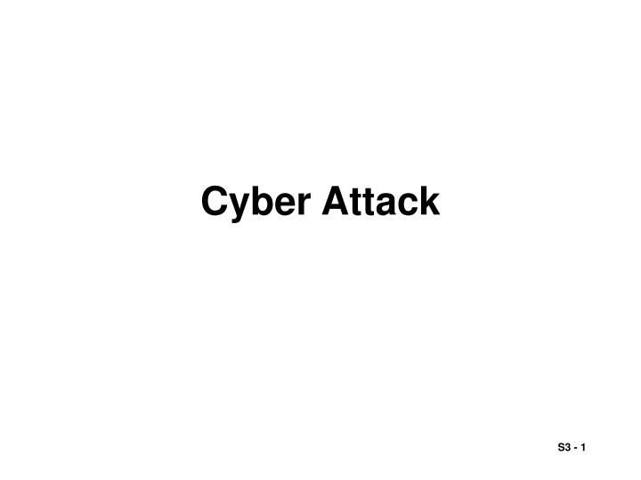 cyber attack n.