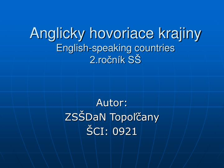 anglicky hovoriace krajiny english speaking countries 2 ro n k s n.