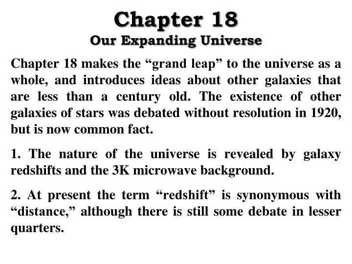 chapter 18 our expanding universe n.