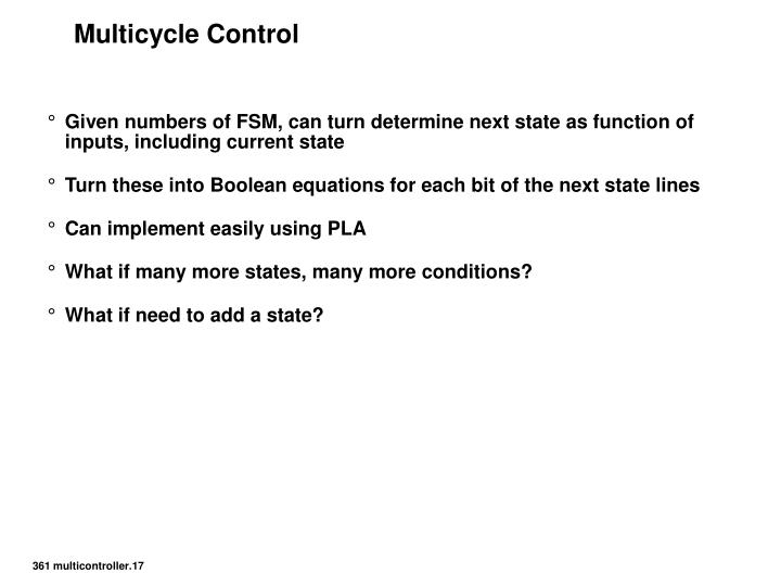 Multicycle Control