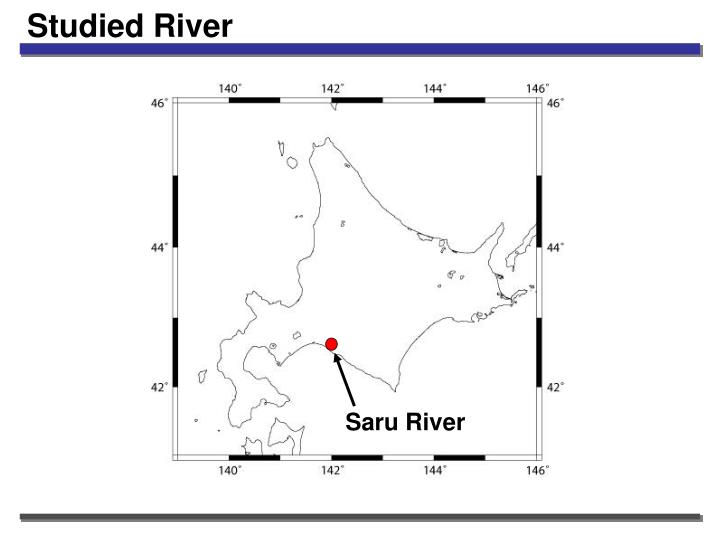 Studied river