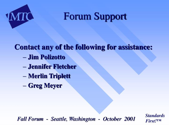 Forum Support