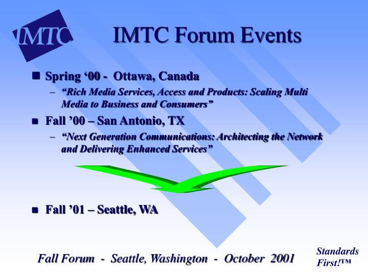 IMTC Forum Events