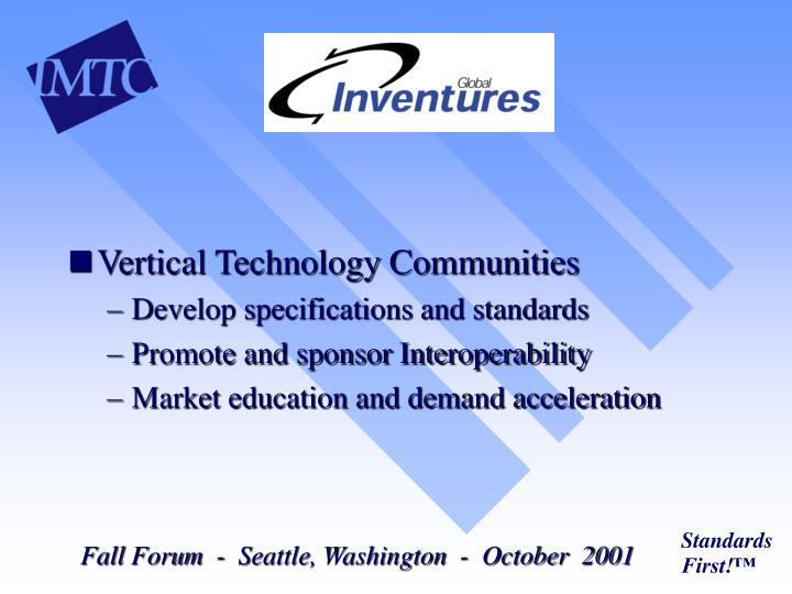 Vertical Technology Communities