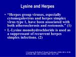lysine and herpes