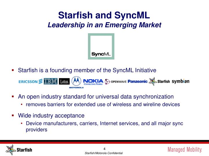 Starfish and SyncML