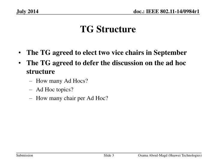 Tg structure