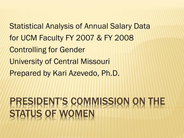 president s commission on the status of women n.