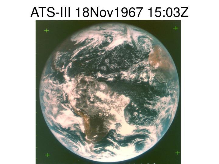 ATS-III 18Nov1967 15:03Z
