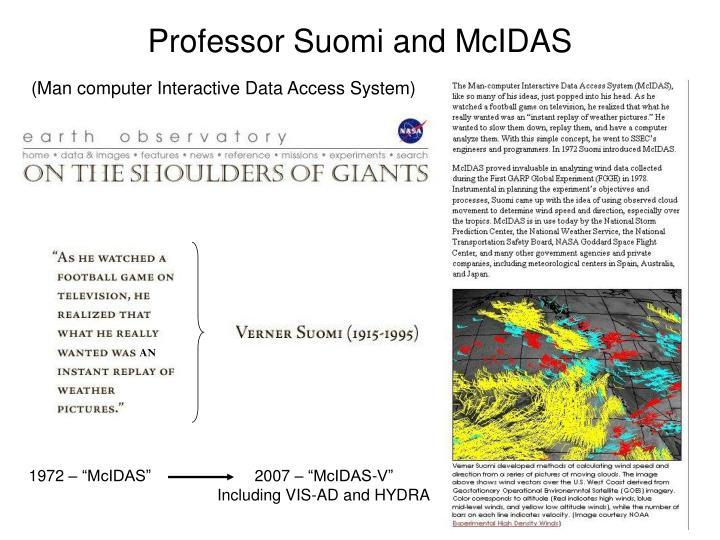 Professor Suomi and McIDAS