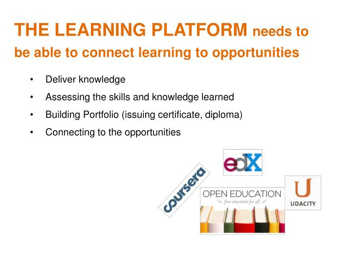 THE LEARNING PLATFORM