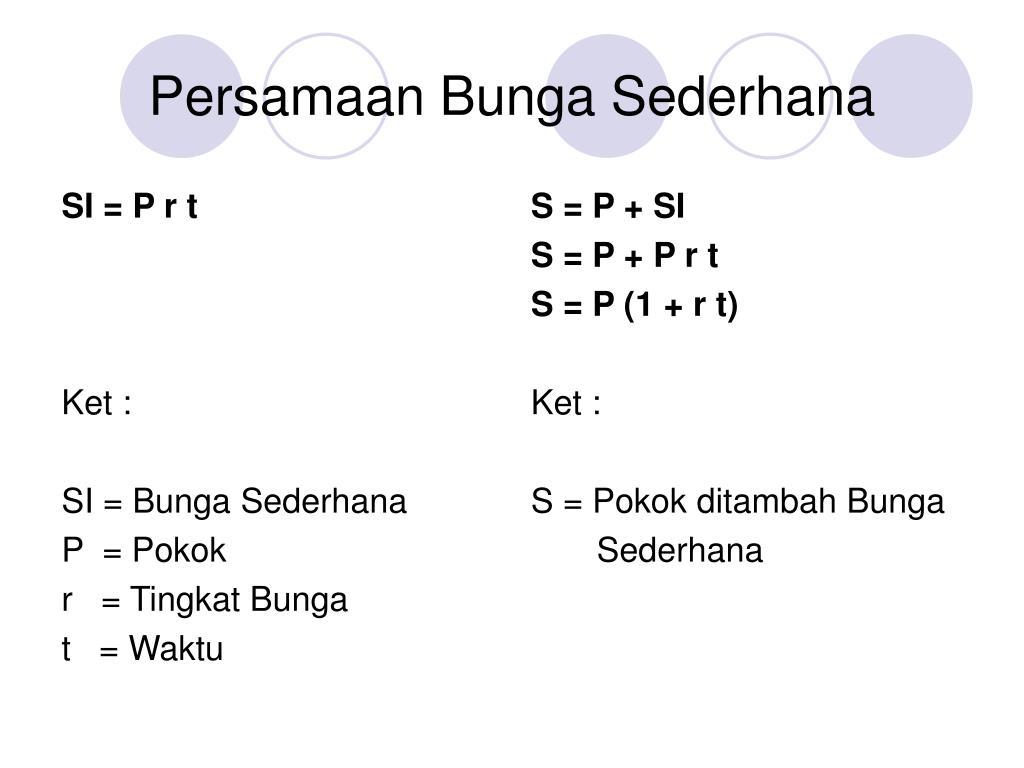 Ppt Pembahasan Soal Bunga Sederhana Powerpoint Presentation Id