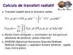 calculs de transfert radiatif1
