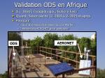 validation ods en afrique