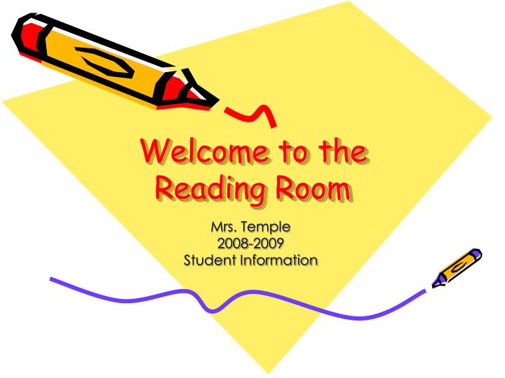 welcome to the reading room n.