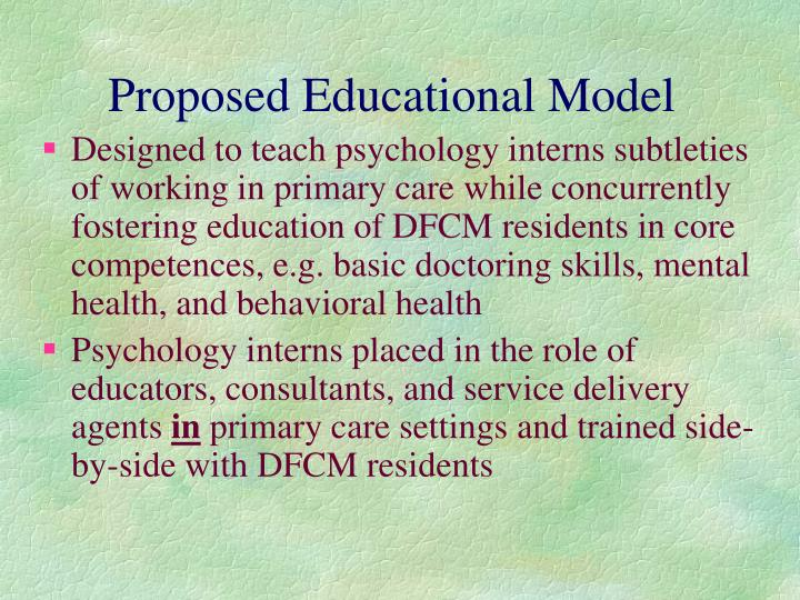 Proposed Educational Model