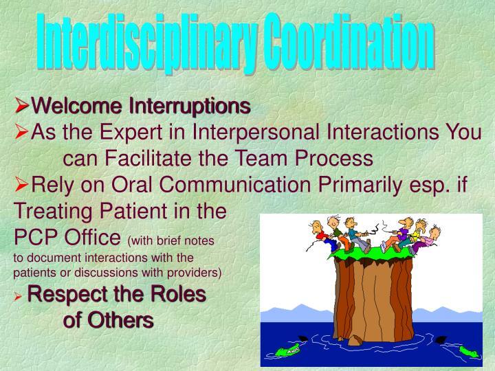 Interdisciplinary Coordination