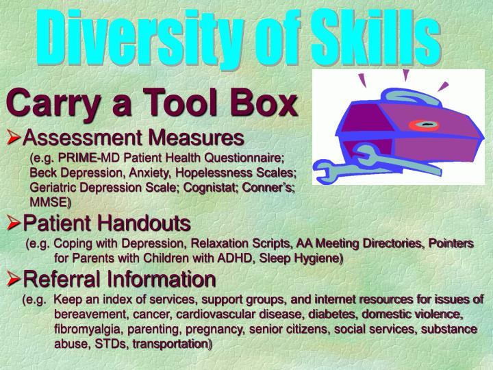 Diversity of Skills