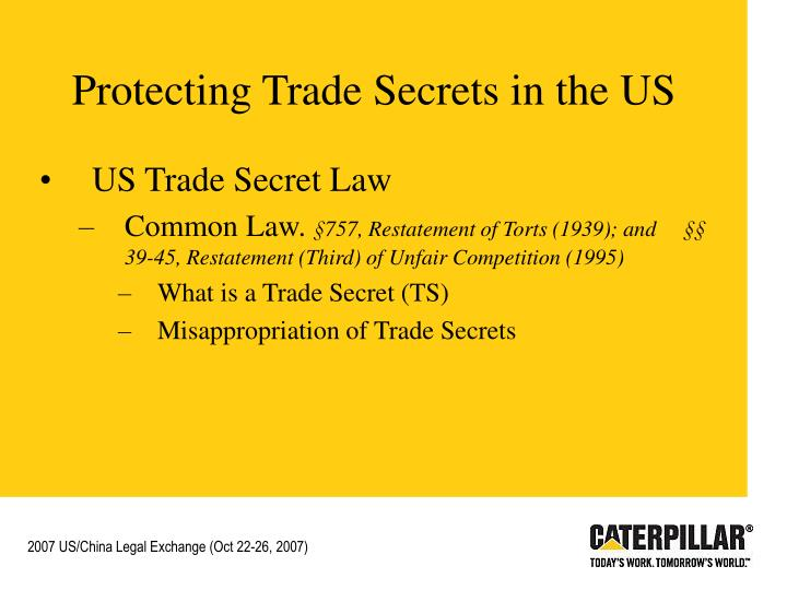 Protecting Trade Secrets in the US