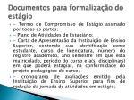 documentos para formaliza o do est gio