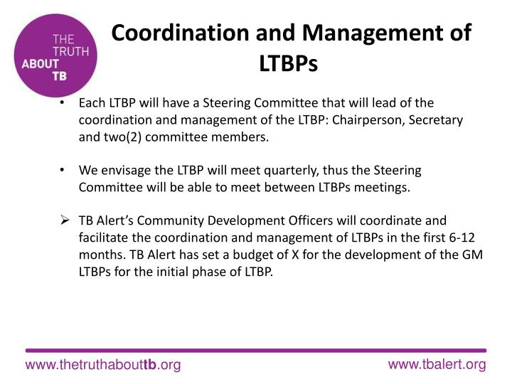 Coordination and Management of LTBPs