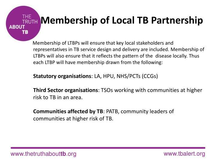 Membership of Local TB Partnership
