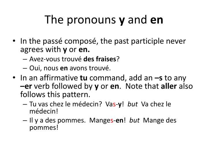 The pronouns