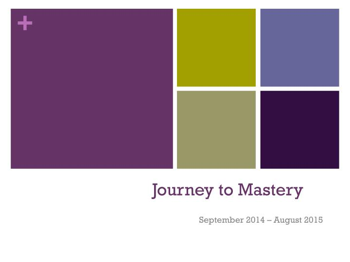journey to mastery n.