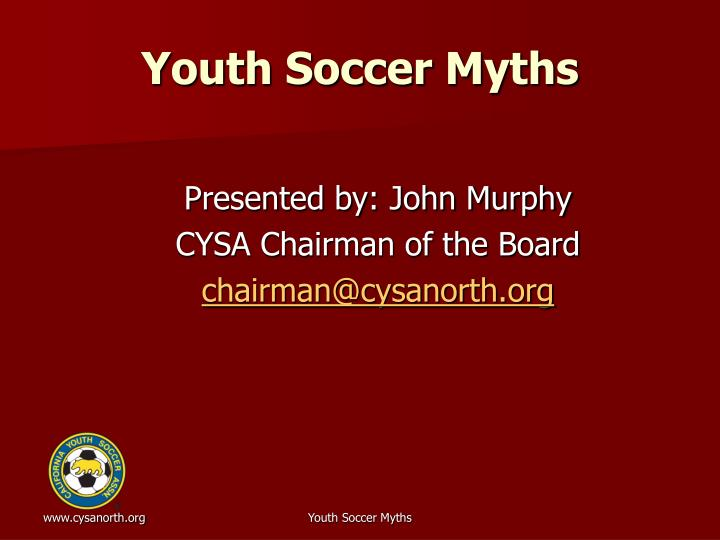 youth soccer myths n.