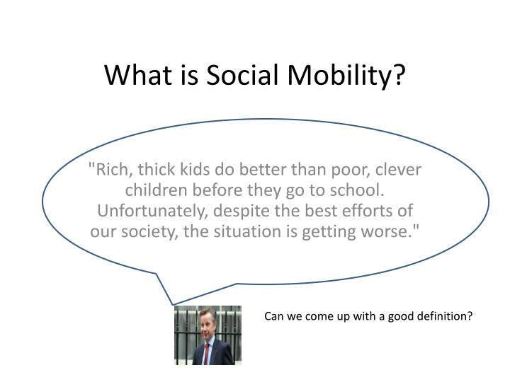 What is social mobility