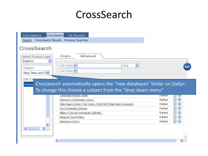 CrossSearch
