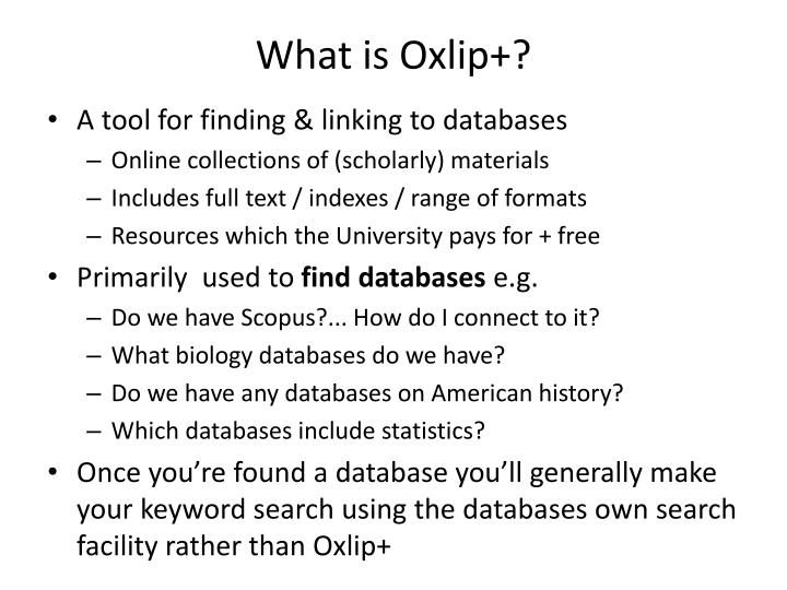 What is oxlip