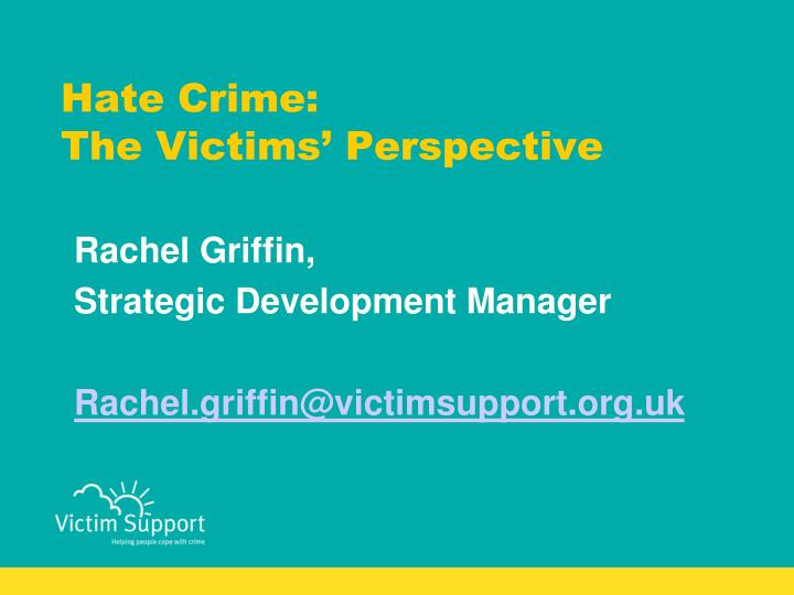 hate crime the victims perspective n.