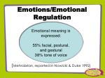 emotions emotional regulation