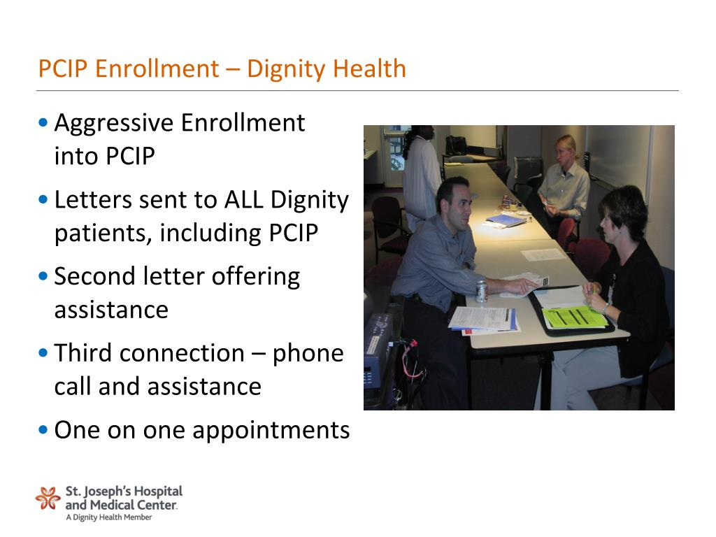 Ppt Pcip Enrollment Dignity Health Powerpoint Presentation Id