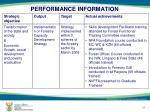 performance information11