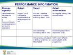 performance information12