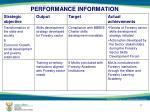 performance information13