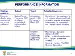 performance information2
